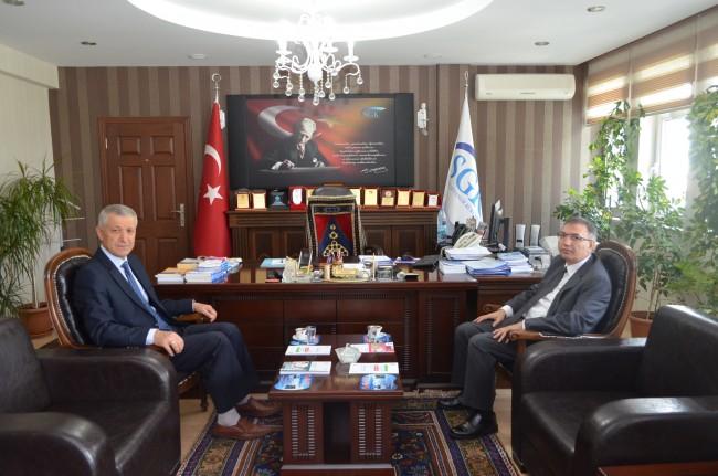 Aksaray Polis Okulu Müdüründen Aksaray SGK İl Müdürlüğüne ziyaret