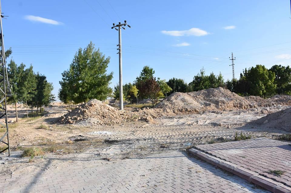 Eskil Belediye kültür park yapım çalışmalarına başladı