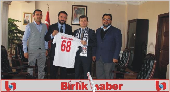 68 Aksaray Belediye Spor emniyet Müdürü Hüneri ziyaret etti