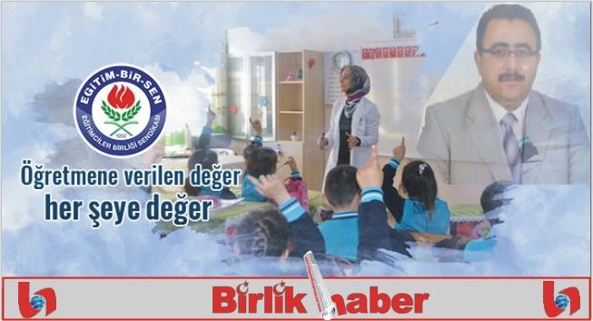 Eğitim Bir-Sen Öğretmenler gününü kutladı