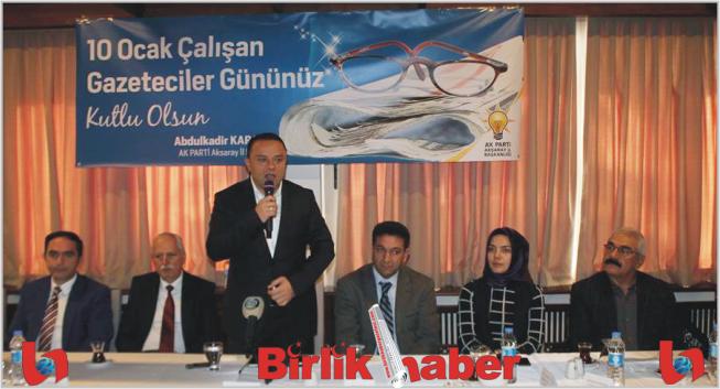 Ak Parti, 10 Ocak çalışan Gazeteciler gününü kutladı