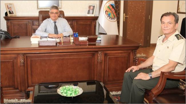 Aksaray'ın Yeni Jandarma Komutanı Vali Pekmez'i ziyaret etti