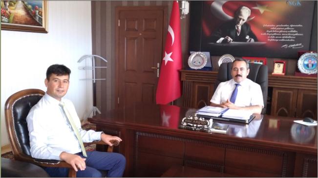 Merkez Büro Sen İl Başkanı Bolakar' dan SGK İl Müdürü' ne ziyaret