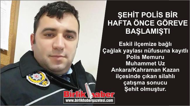 Eskilli Polis Memuru Ankara'daki Çatışmada Şehit Oldu