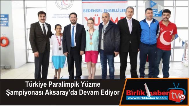 Türkiye Paralimpik Yüzme Şampiyonası Aksaray'da Devam Ediyor