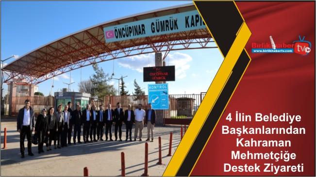 4 İlin Belediye Başkanlarından Kahraman Mehmetçiğe Destek Ziyareti