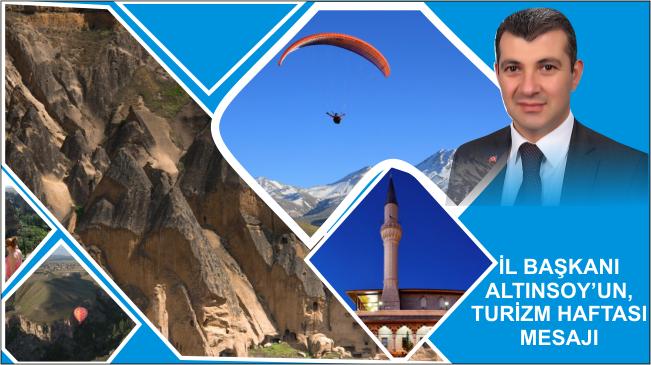 Altınsoy'dan, Turizm Haftası Mesajı