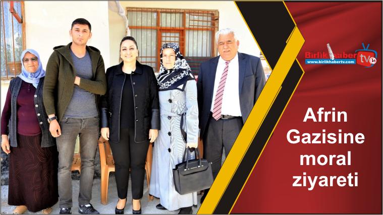 Afrin Gazisine moral ziyareti