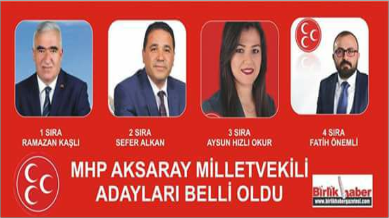 MHP'de Aksaray milletvekili aday listesi açıklandı