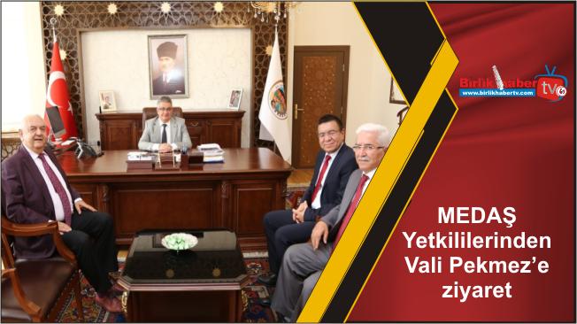 MEDAŞ Yetkililerinden Vali Aykut Pekmez'e ziyaret