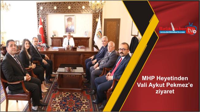 MHP Heyetinden Vali Aykut Pekmez'e ziyaret
