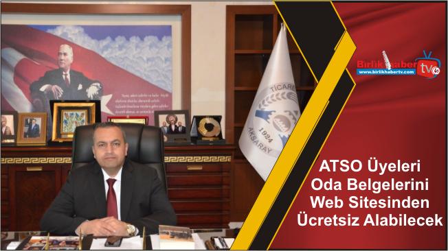 ATSO Üyeleri Oda Belgelerini Web Sitesinden Ücretsiz Alabilecek