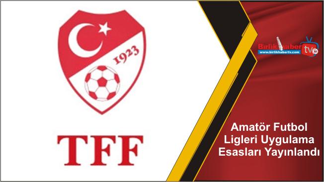 Amatör Futbol Ligleri Uygulama Esasları Yayınlandı