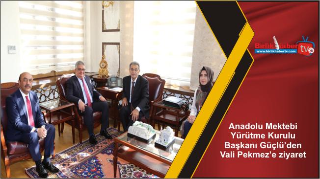Anadolu Mektebi Yürütme Kurulu Başkanı Güçlü'den Vali Pekmez'e ziyaret