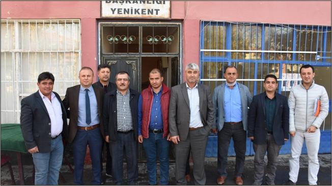 Saklav Yenikent Çiftçi Mallarını Koruma Başkanlığını ziyaret etti