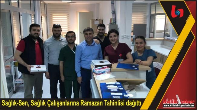 Sağlık-Sen, Sağlık Çalışanlarına Ramazan Tahinlisi dağıttı