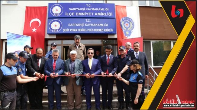 Polis Merkezine Şehit Polis Ayhan Demirel'in adı verildi
