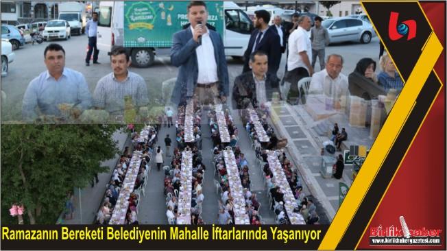 Ramazanın Bereketi Belediyenin Mahalle İftarlarında Yaşanıyor