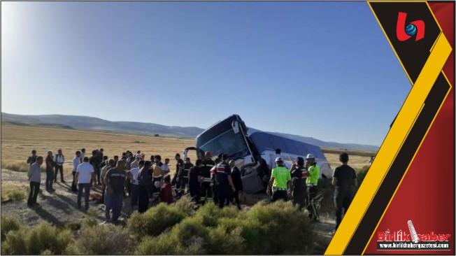 Aksaray'da Otobüs Devrildi 41 Yaralı