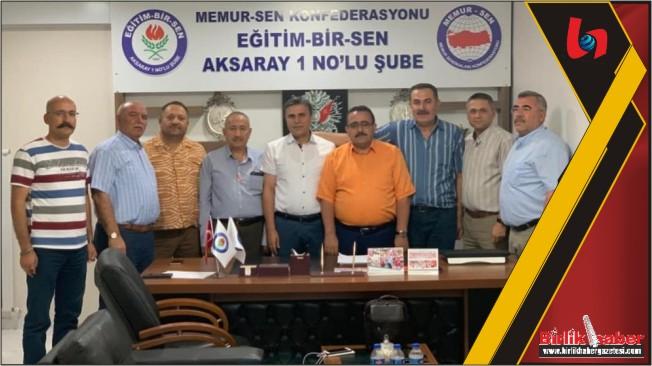 Memur Sen Aksaray İl Temsilciliği Murat Günaydın'la devam kararı aldı