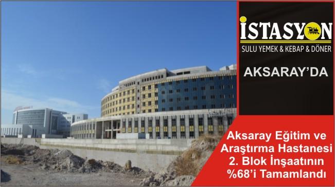 Aksaray Eğitim ve Araştırma Hastanesi 2. Blok İnşaatının %68'i Tamamlandı