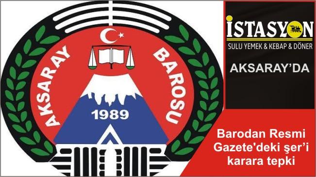 Barodan Resmi Gazete'deki şer'i karara tepki