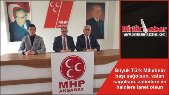 Büyük Türk Milletinin başı sağolsun, vatan sağolsun, zalimlere ve hainlere lanet olsun