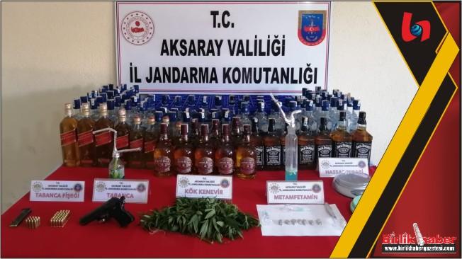 Ihlara'da Uyuşturucu madde ve kaçak alkol satan şahıslar yakalandı
