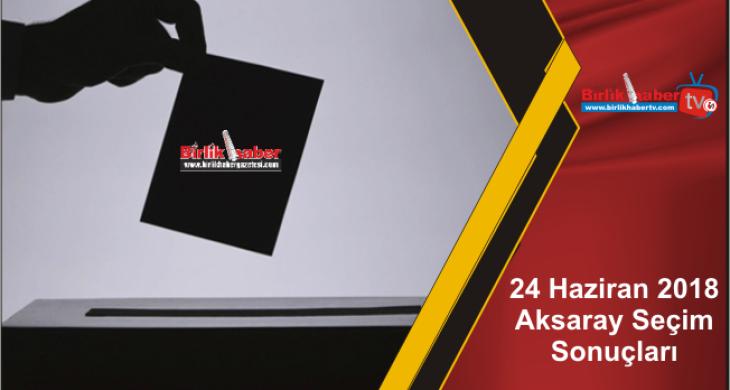 24 Haziran 2018 Aksaray Seçim Sonuçları