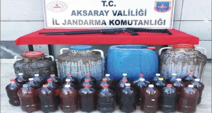 375 litre kaçak şarap yakalandı