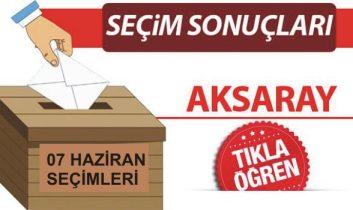 7 Haziran 2015 Aksaray seçim sonuçları