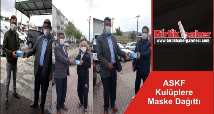 ASKF Kulüplere Maske Dağıttı