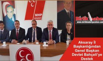 MHP Aksaray İl Başkanlığından Genel Başkan Devlet Bahçeli'ye Destek
