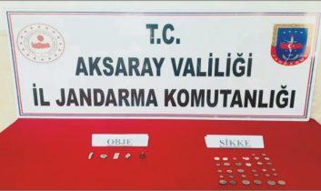 Aksaray'da 37 adet sikke yakalandı