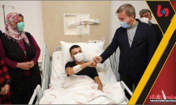 Aydoğdu'dan Afrin'deki saldırıda yaralanan askere ziyaret
