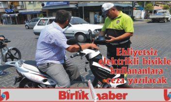 Ehliyetsiz elektrikli bisiklet kullananlara ceza geliyor