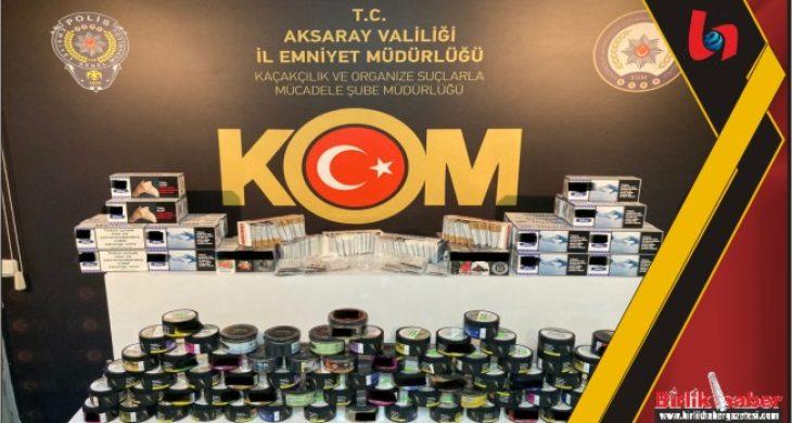 Kaçak tütün satanlara operasyon